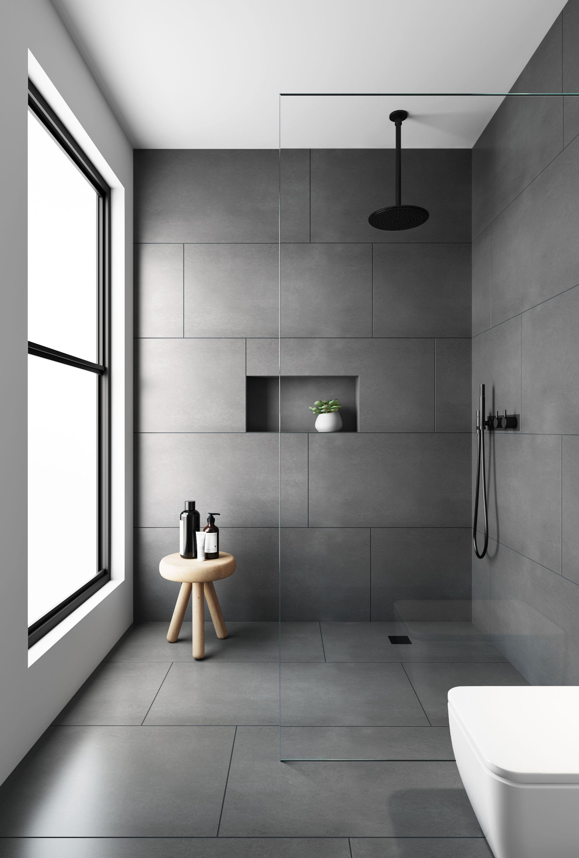 Pin On Hd Shower Room Gray bathroom floor tiles