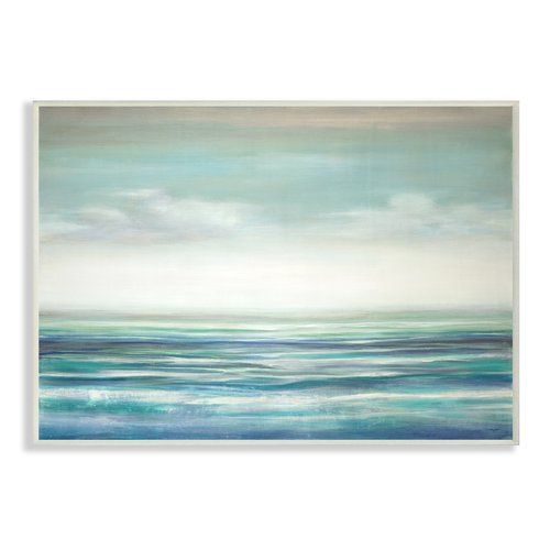 Found It At Wayfair Blue Ocean Sunset Photographic Print On Wood Wall Art Plaques Canvas Wall Art Ocean Sunset