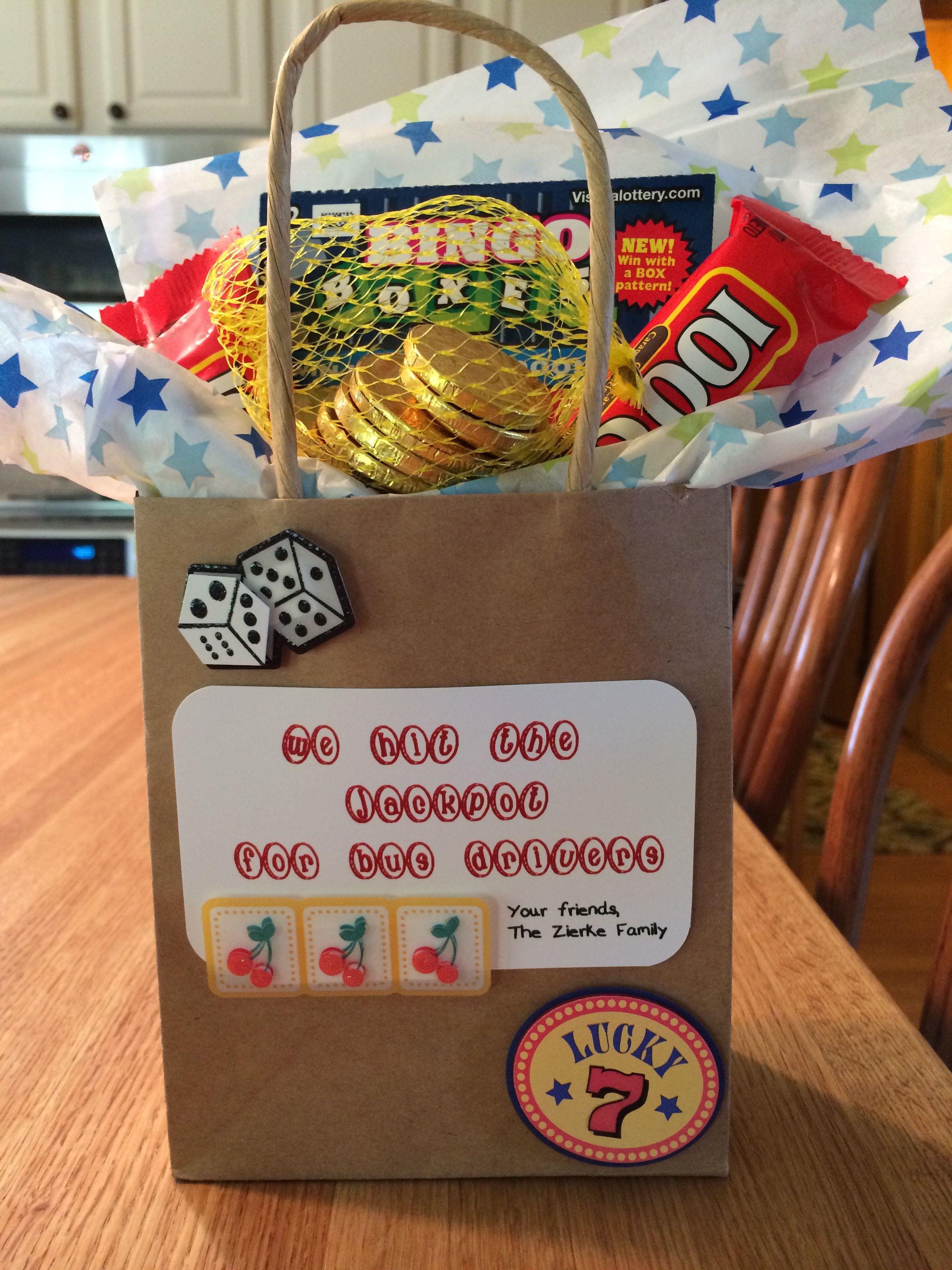 Bus driver gift   Bus driver gifts, Teacher gifts, Easy ...