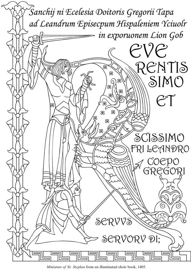 Image result for medieval illuminations to color Pinterest Medieval - best of medieval alphabet coloring pages