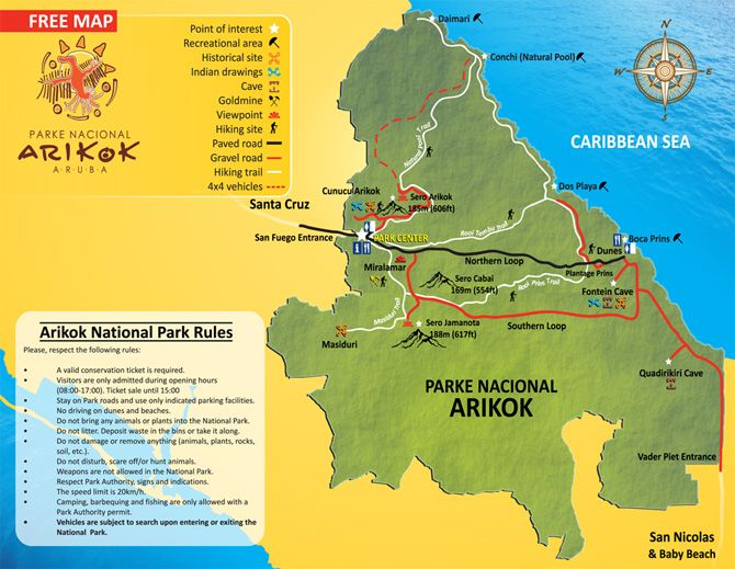 Explore The Beauty Of Caribbean: Arikok National Park Map
