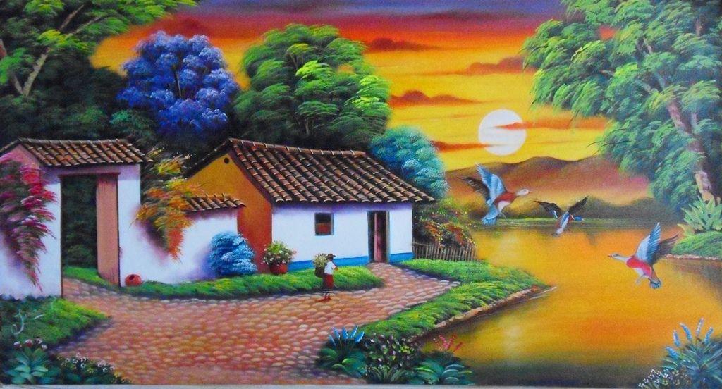 Paisajes Colombianos Jpg 1 024 552 Pixeles Paisaje Para Pintar Paisajes Pintor Colombiano