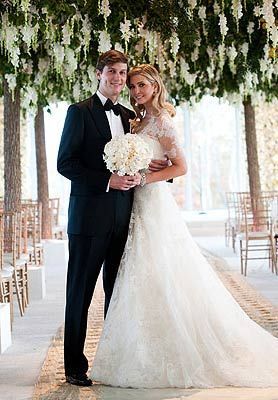 Ivanka Trump Made A Fresh Statment In A Lace Vera Wang Wedding Dress With Sleeves Trump S Dress Has Al Trump Wedding Dress Ivanka Trump Wedding Celebrity Bride