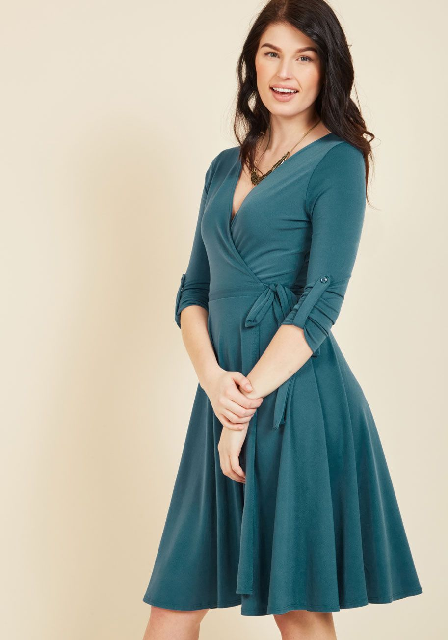 Say Yes to Timeless Wrap Dress in Clover | Wrap dresses, ModCloth ...