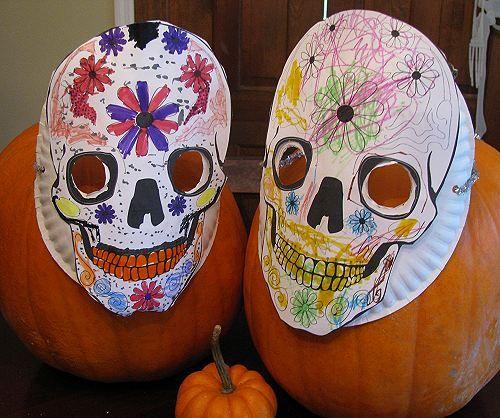 Simple Calaveras Masks for Dia de los Muertos Skull mask, Dia de - copy dia de los muertos mask coloring pages