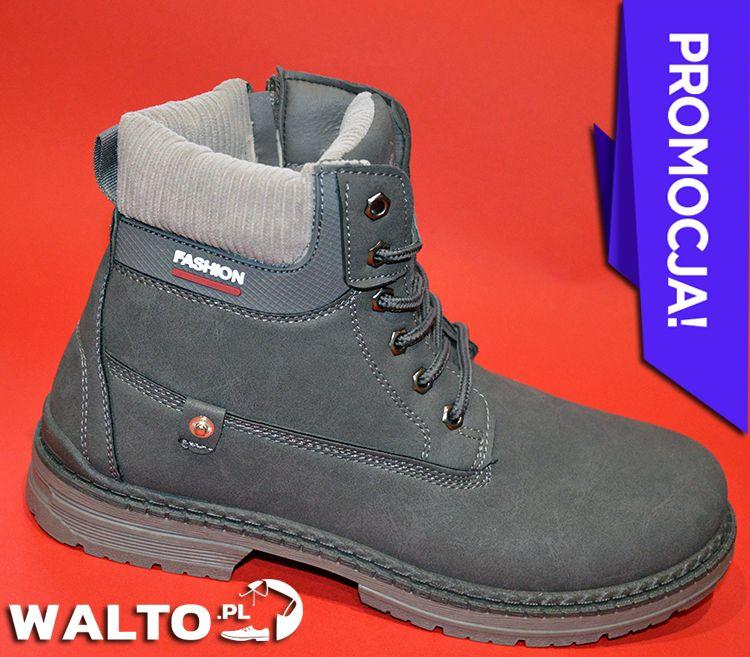 Trapery Buty Meskie Zimowe Popielate Szare Black High Top Sneakers Top Sneakers