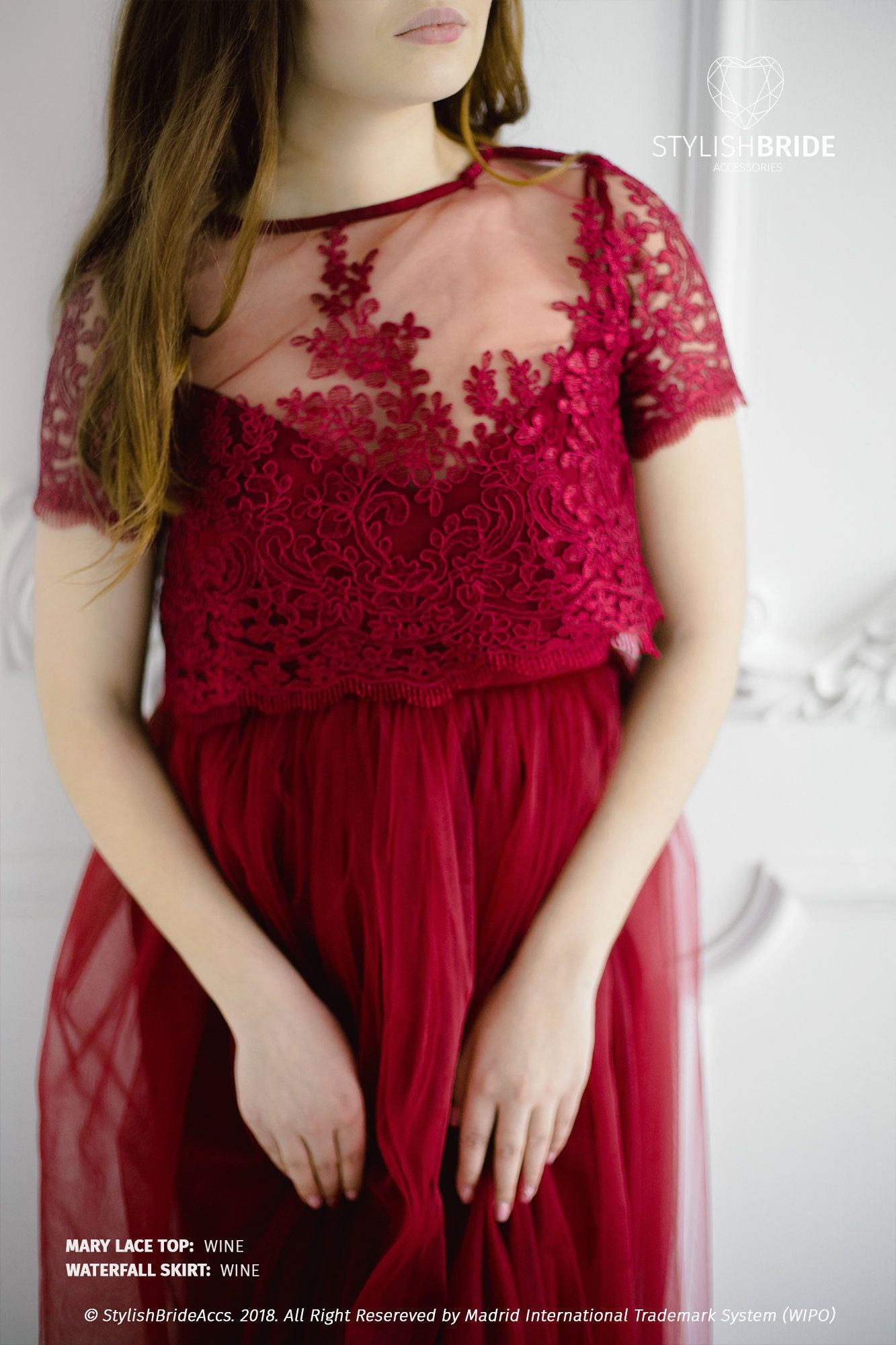 Wine Mary Lace Top Wine Red Lace Prom Tops Bridesmaids Crop Etsy Lace Top Bridesmaids Crop Top Red Lace