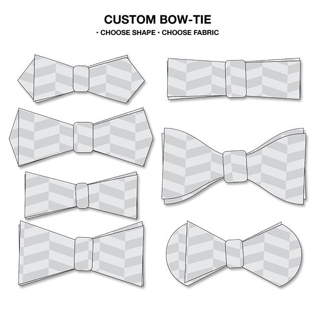 Custom Made Bow Tie You Choose The Shape And The Fabric Bow