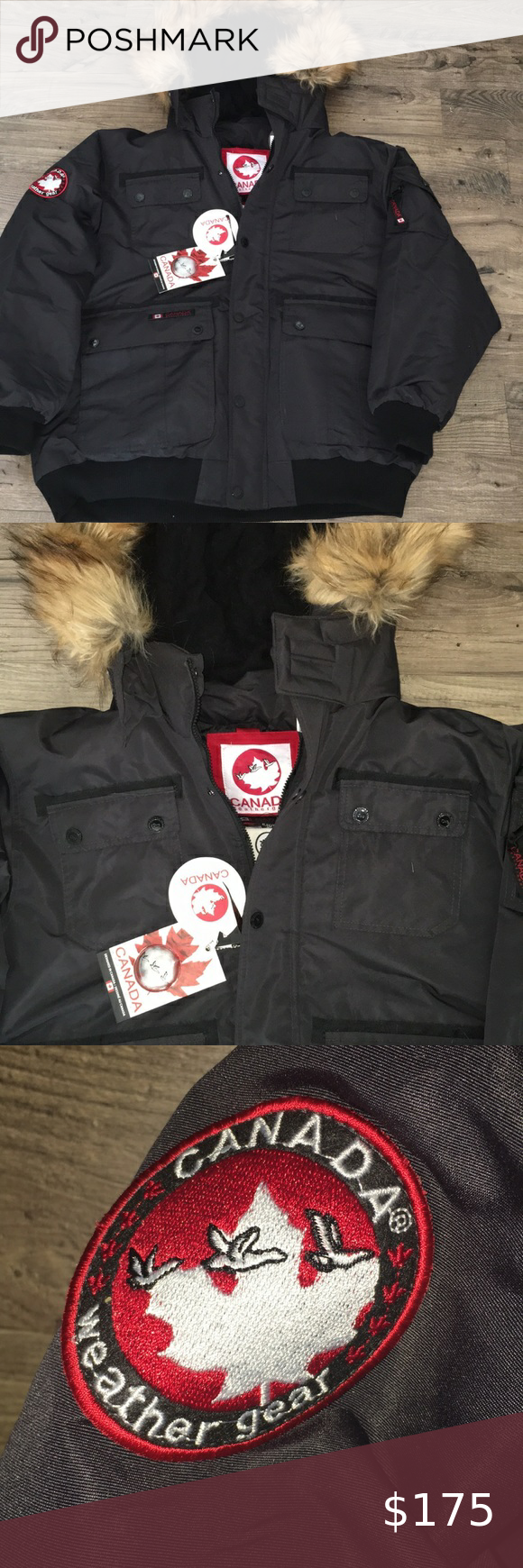 Canada Weather Gear Goose Winter Hooded Parka Xl Great For Winter Note Fake Fur Trim Zips Off See T Winter Jacket North Face Hooded Parka Snowboard Jacket Mens [ 1740 x 580 Pixel ]