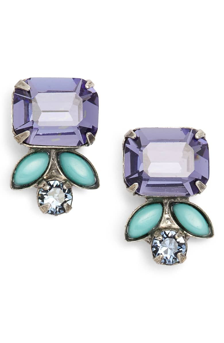 7de8303d4 Zinnia Earrings, Main, color, PURPLE/ BLUE | Nordstrom.com x ...