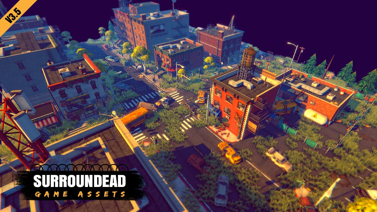 SurrounDead Survival Game Assets (modular buildings with