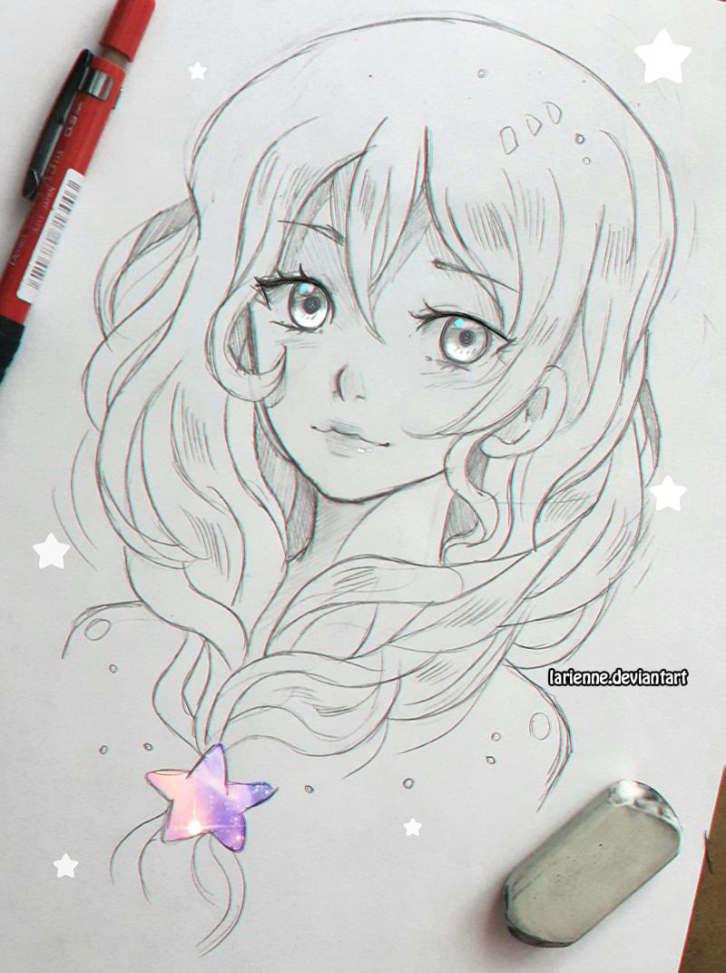 Star Braid By Larienne Cute Drawings Sketches Art