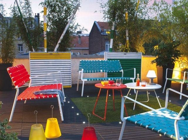 Banc de jardin moderne colore castorama   jardin   Pinterest ...