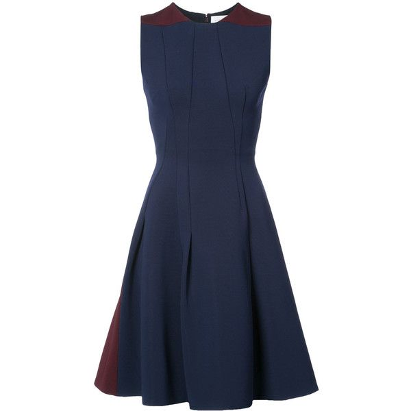 Shop Offer Sale Online sleeveless flared dress - Blue Victoria Beckham Cheap From China Clearance Inexpensive 6axE4ezJ8