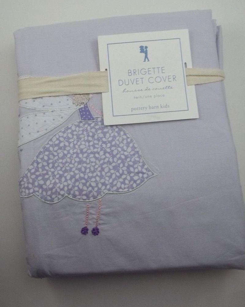 Pottery Barn Kids Brigette Duvet Twin Lavender Fairy Ballerina #PotteryBarnKids $77