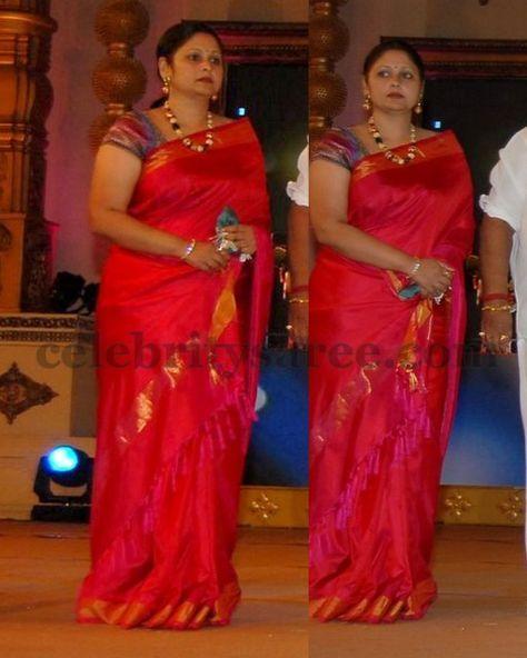 Jayasudha Silk Saree In Reddish Pink