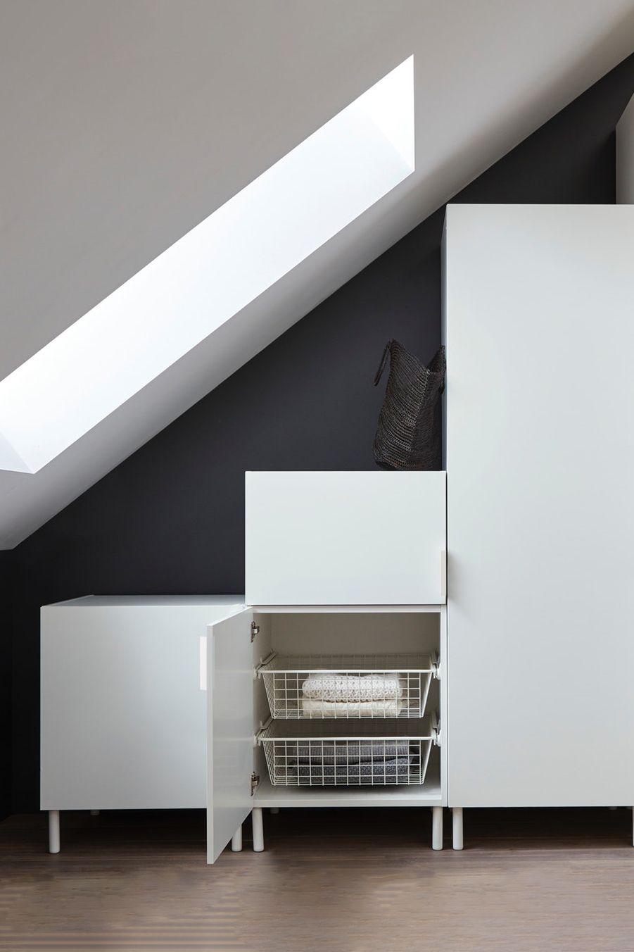 Zimmer Mit Schrage Einrichten Platsa System Kleiderschrank Fur Dachschrage Schrank Dachschrage Aufbewahrung Dachschrage