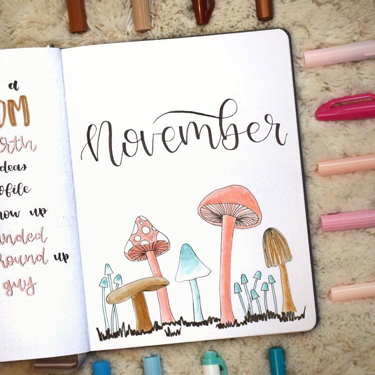 150+ Bullet Journal Monthly Cover Ideas [2020 New Edition] - AnjaHome #novemberbulletjournalcover