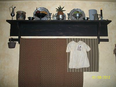 Love the shelf and pewter
