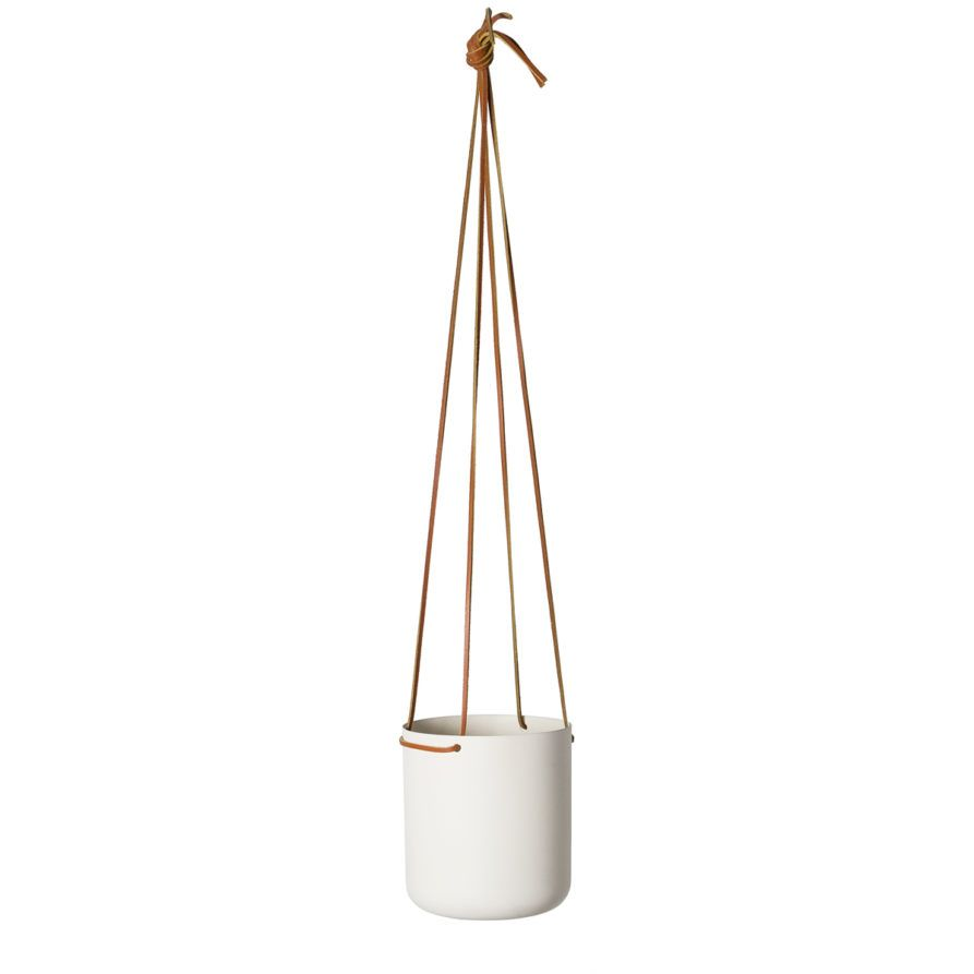 Hanging Planter Small In White Powder Coated Metal By Lightly Australia Hanging Planters Hanging Planters