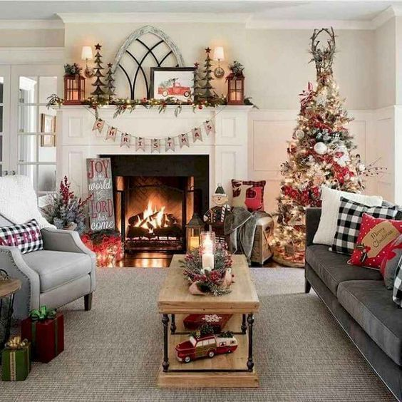 59 Christmas Home Decorating Ideas Holiday Home Decor Ideas Christmas H Christmas Decorations Living Room Christmas Living Rooms Christmas Decorations Rustic