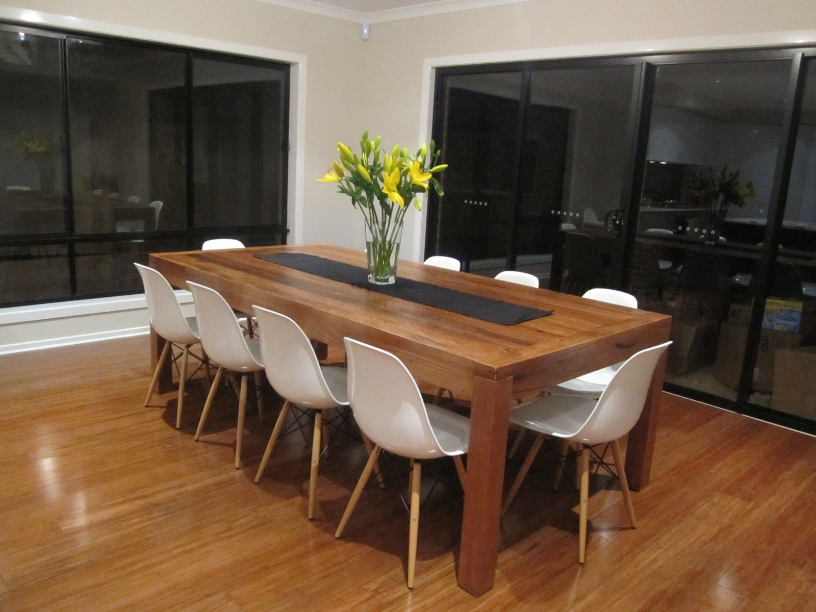 Timber dining table white chairs wood furniture stores for Dining room tables melbourne
