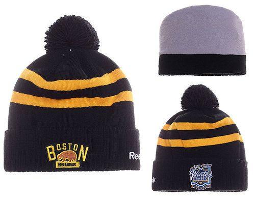 f4135544240 Boston Bruins Beanie Winter Knit Cap Black Yellow