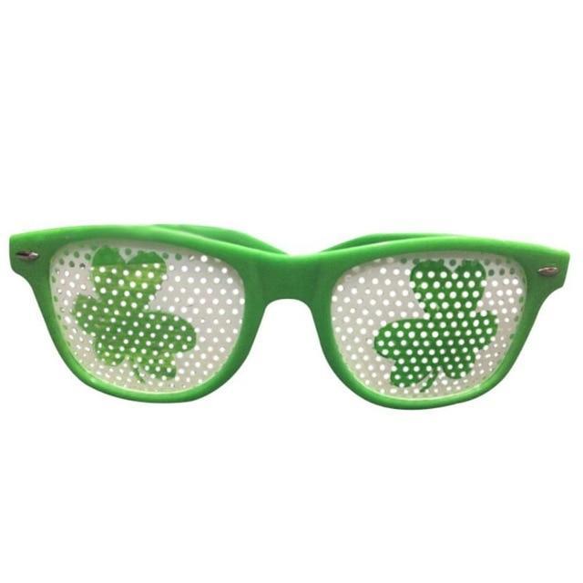 Gergeos Funny Glasses Shamrock Green Hat Glasses For St Patricks Day Green Irish Adult Festival