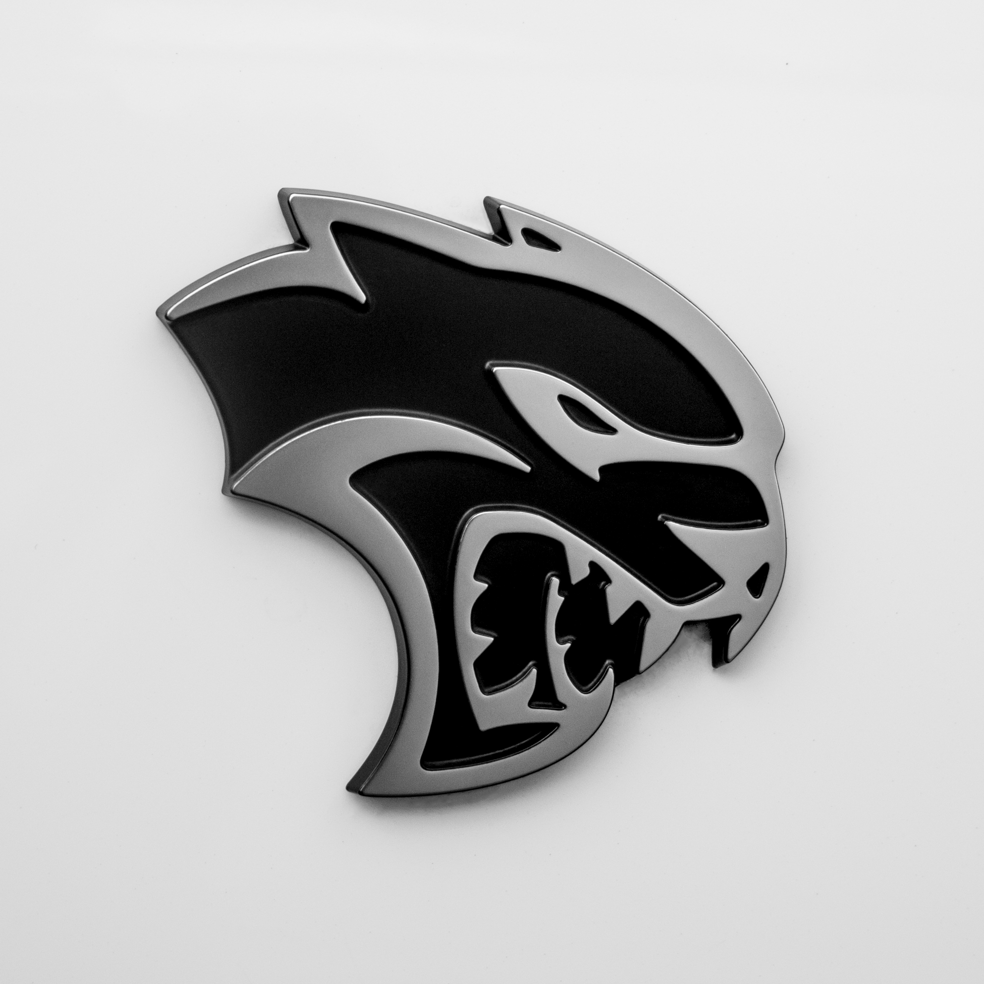 Hellcat Logo On The Side Of The Bagged Dodge Challenger Hellcat Hellcat Challenger Hellcat Car Emblem