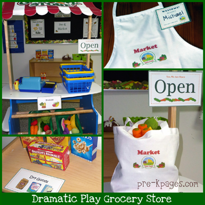 Dramatic Play Grocery Store Grocery store dramatic play