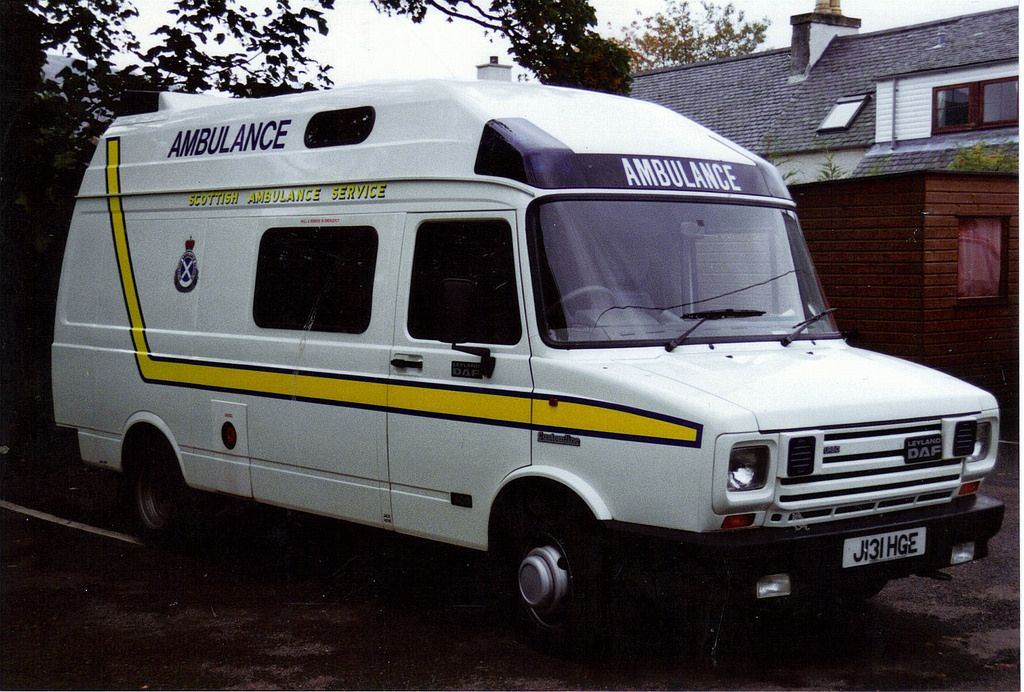 Scottish Ambulance Service J131 HGE Leyland Daf 400 turbo