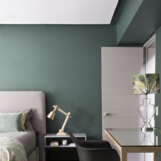 dites oui au vert dans la chambre id es d co pinterest couleurs apaisantes chambres. Black Bedroom Furniture Sets. Home Design Ideas
