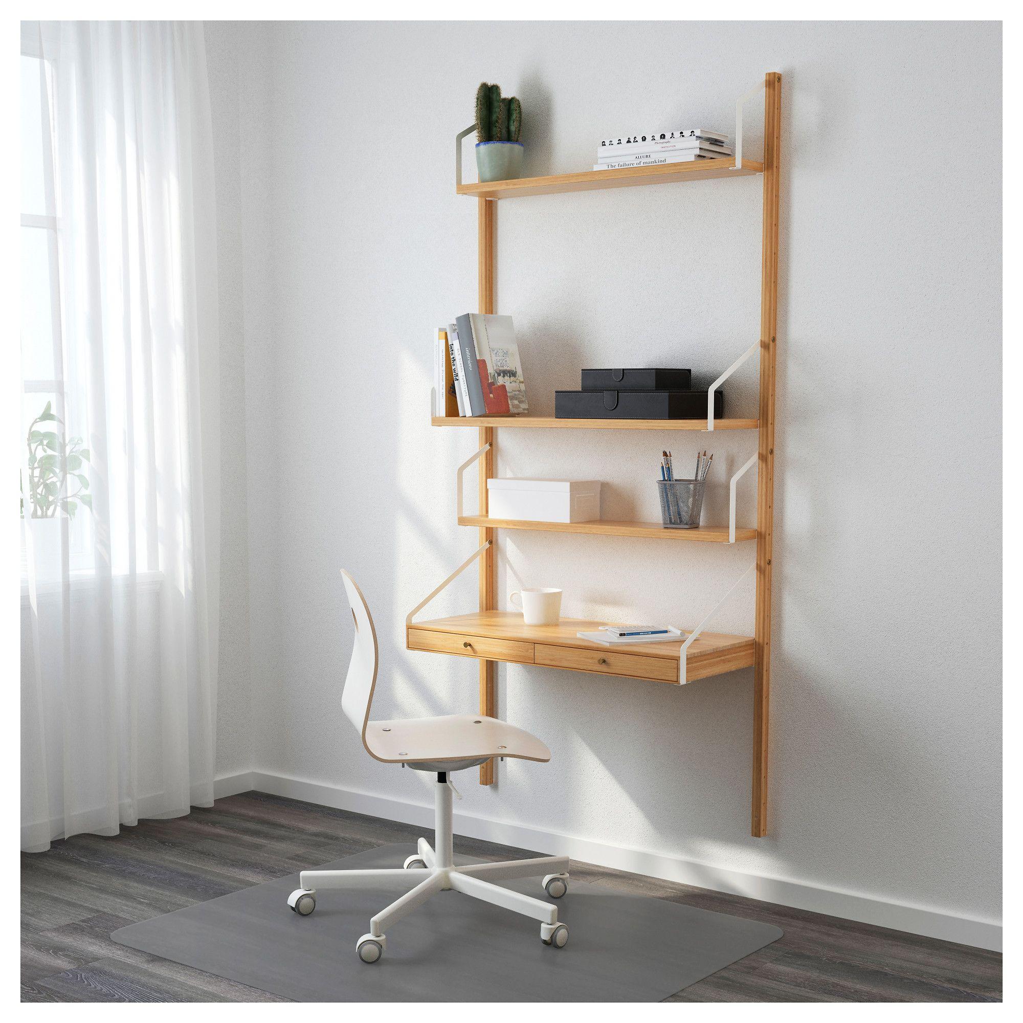 Ikea Svalnas Wall Mounted Workspace Combination Hide Or