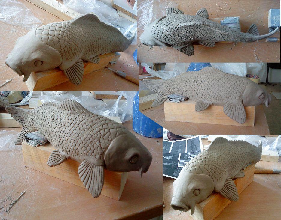 Clay koi carp koi carp pinterest koi carp carp and koi for Clay koi fish