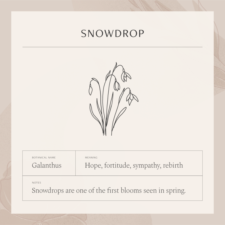 Snowdrop Flower Necklace In 2020 Flower Tattoo Meanings Create My Tattoo Small Tattoo Designs
