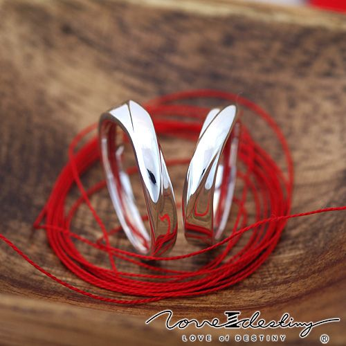 Red thread ring for the love of Destiny fate Symbol of eternity