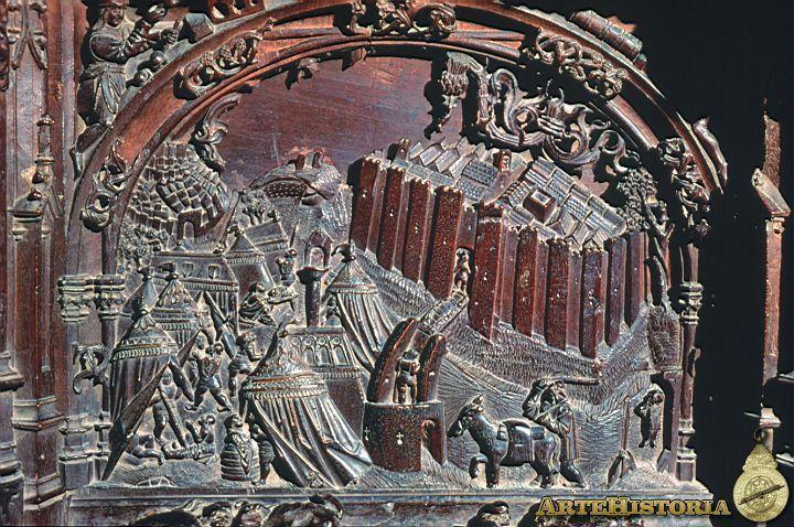 Detalle De La Sillería Del Coro De La Catedral De Toledo Comentada En Otra Foto Arte Medieval Catedral