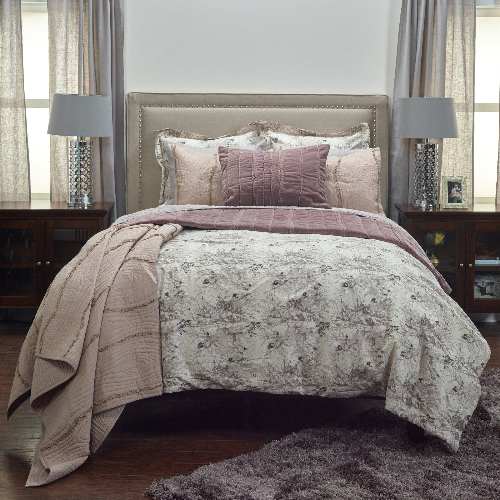 Vintage Butterfly 3 Piece Bedding Set By Rizzy Home Size Twin