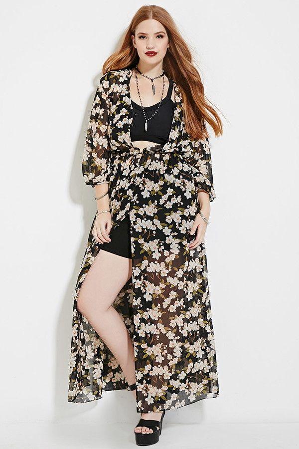 Plus Size Floral Maxi Dress Moda Tallas Grandes Moda