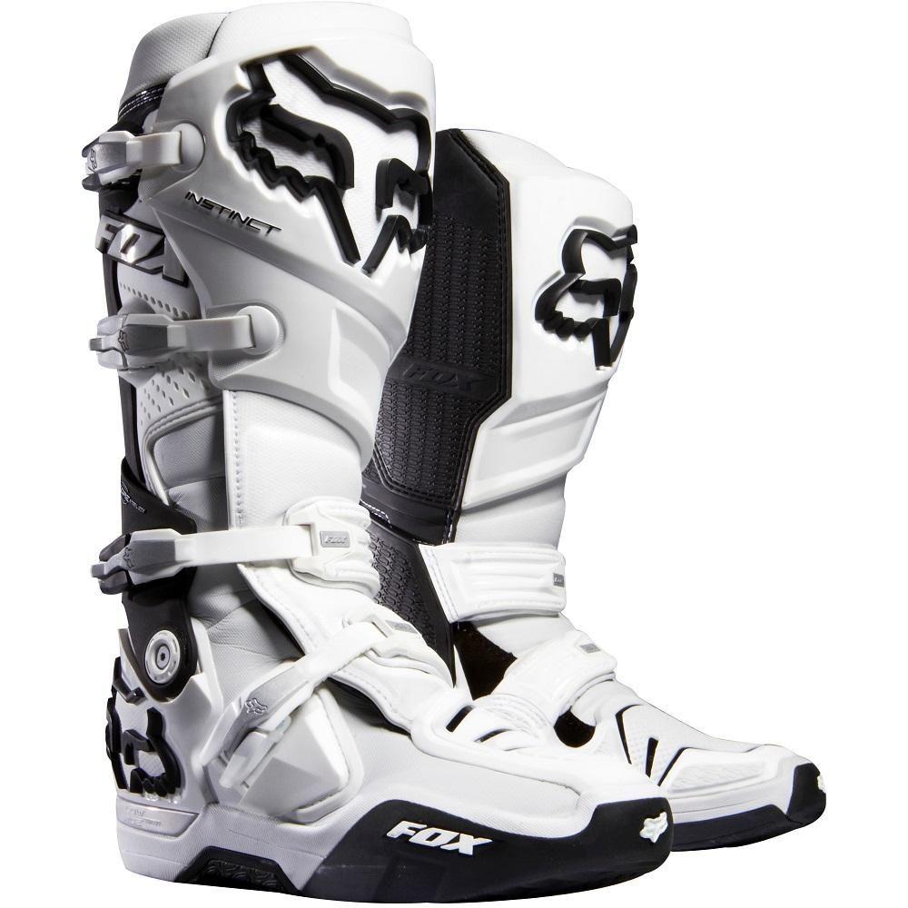 Dirt bike boots · Fox Racing Instinct Boots Motocross Dirt Bike - White