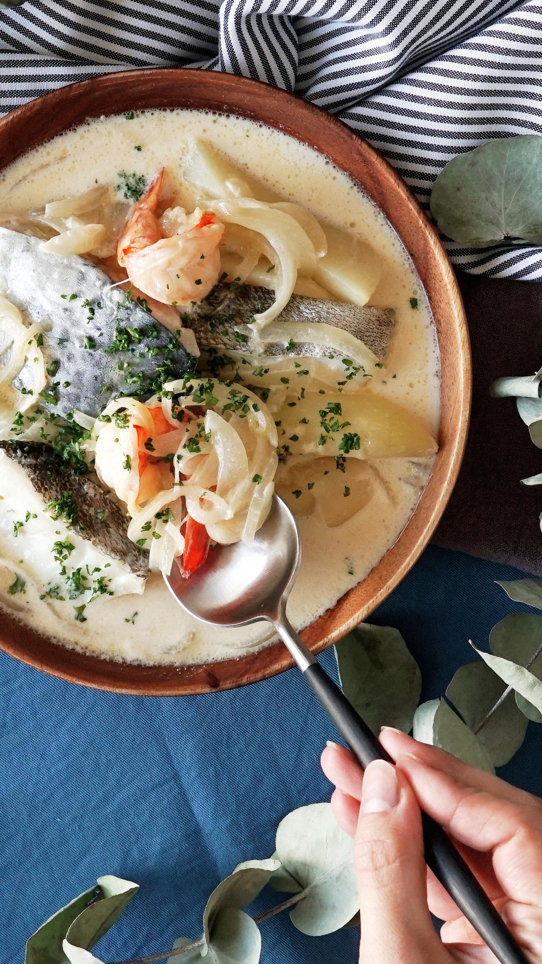White Bouillabaisse #seafoodstew