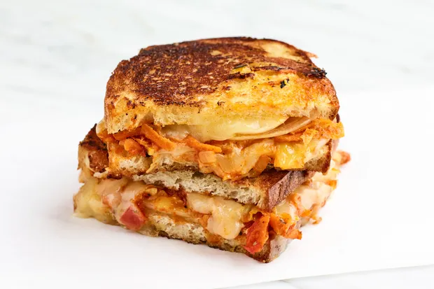 Chakalaka And Cheddar Braaibroodjies Grilled Cheese Sandwiches Recipe In 2021 Epicurious Recipes Sandwiches Cheese Sandwich Recipes