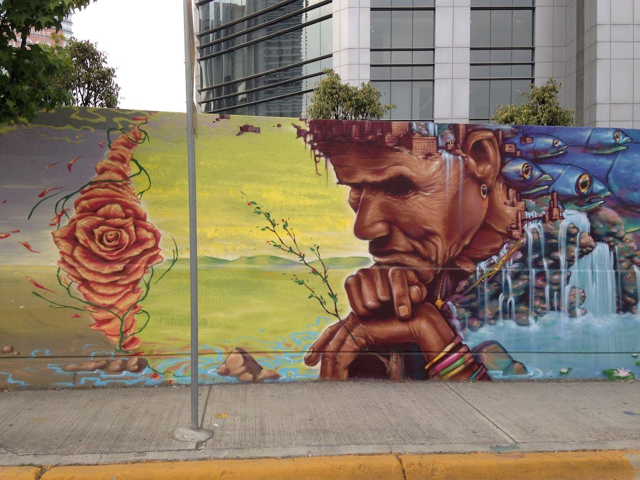 "by Monk.E - project ""Nahualismo Collective"" - Santa Fe, Mexico - Feb ..."
