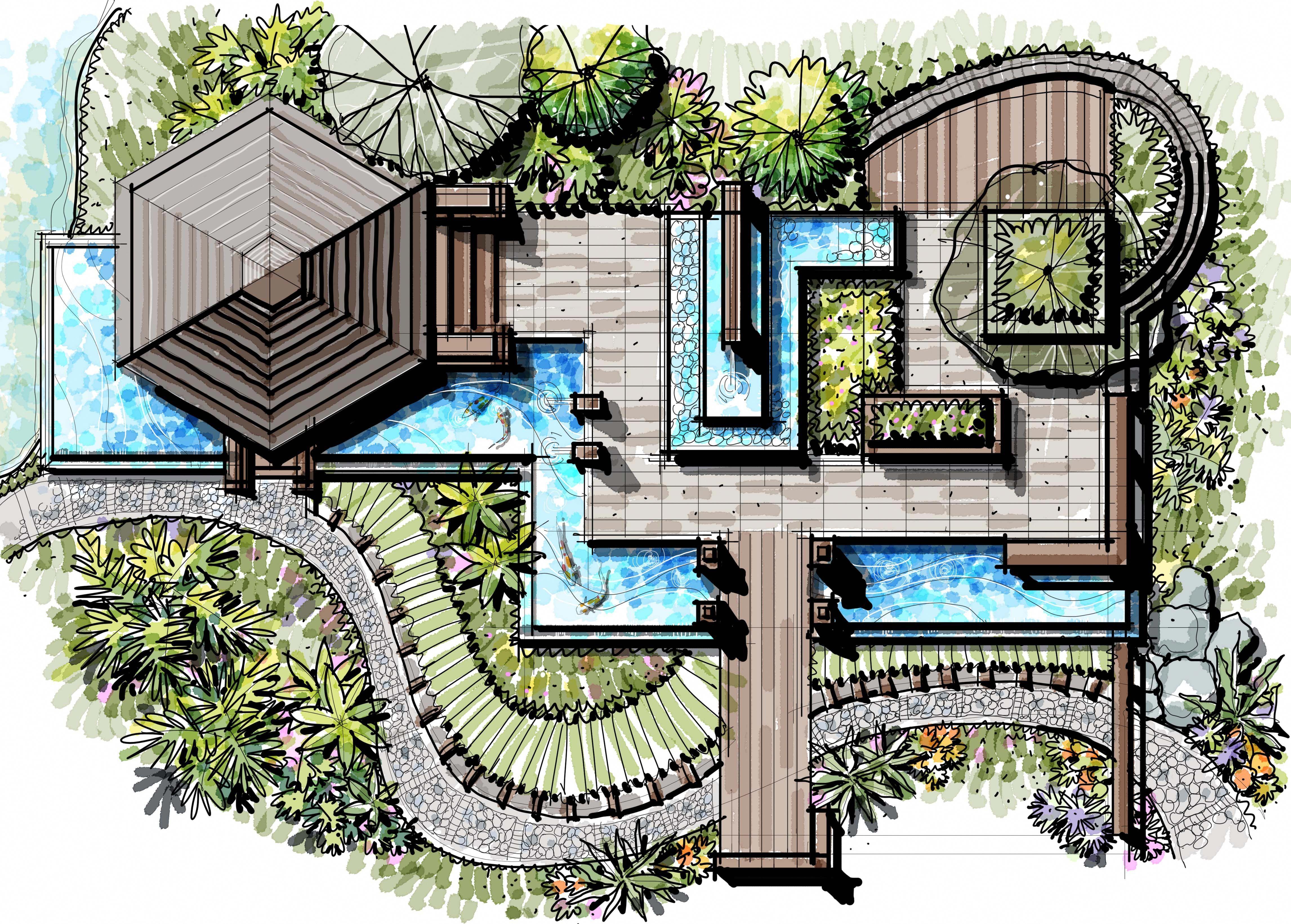 pavilion, landscape pavilion, Water Edge Landscape ...