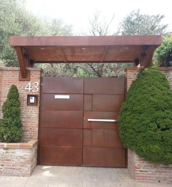 Resultado de imagen de puertas de entrada chalet porton cuatro pinterest - Puertas de chalet ...