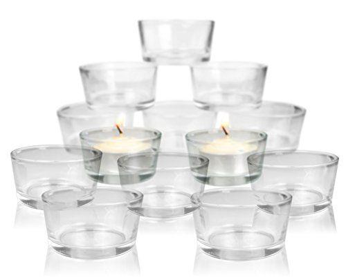 Amazon Com Clear Glass Tea Light Candle Holders Cups Bulk Set Of 72 Centerpiece Weddi Tealight Candle Holders Clear Glass Candle Holders Tea Light Candle