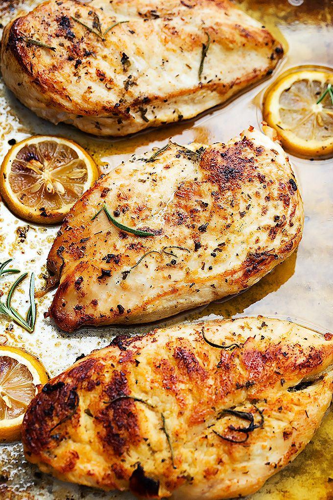 Easy Healthy Baked Lemon Chicken Baked Lemon Chicken Recipes Pepperocini Recipes