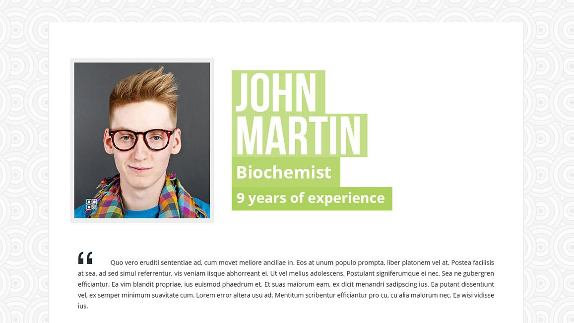 About Me Section With User Image Resume Template Serpens