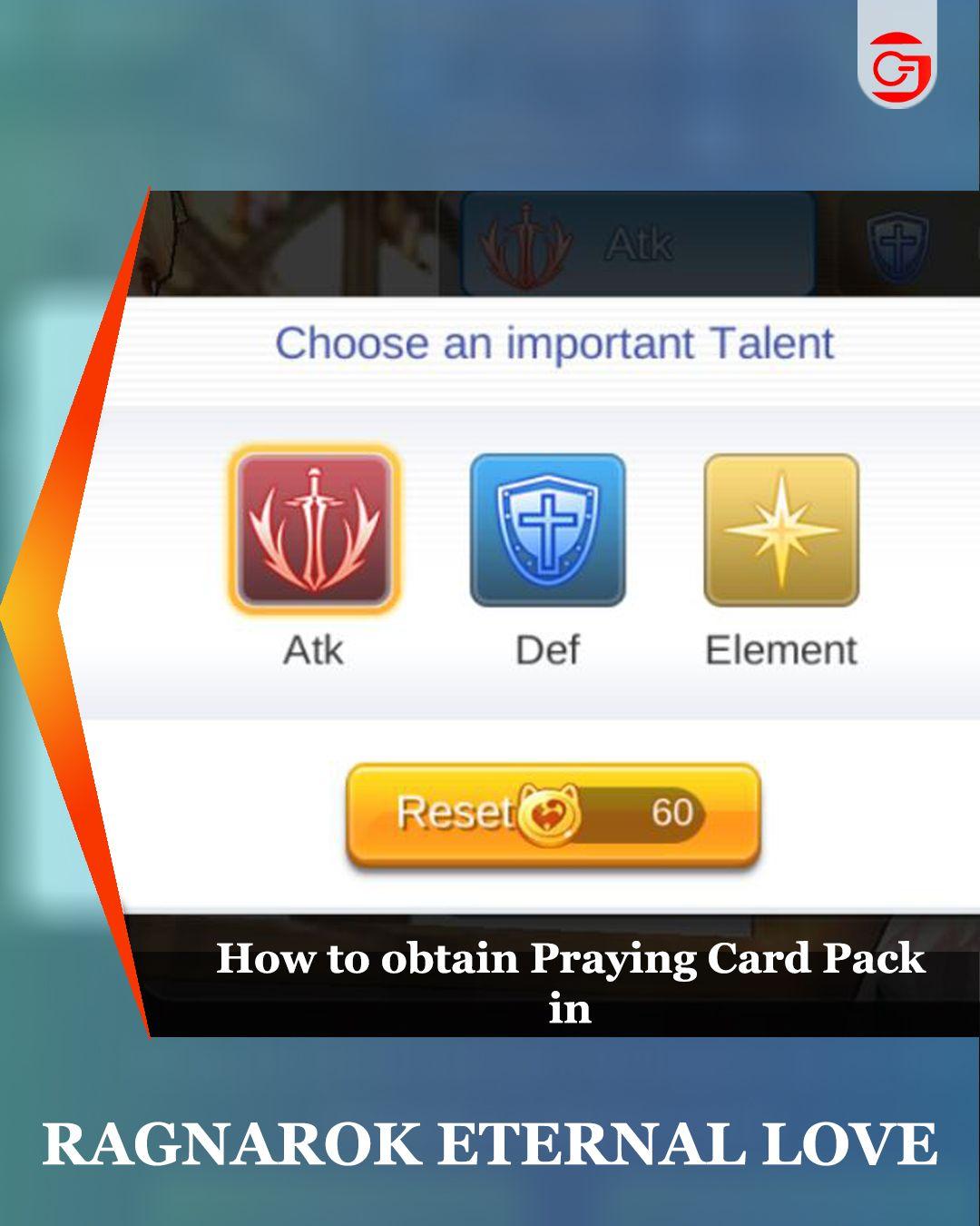 Praying Card Pack In Ragnarok Mobile Pack Of Cards Ragnarok Mobile What Is Pray