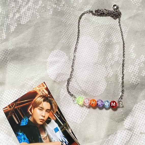 Nct Johnny Johfam bead Necklaces | Etsy